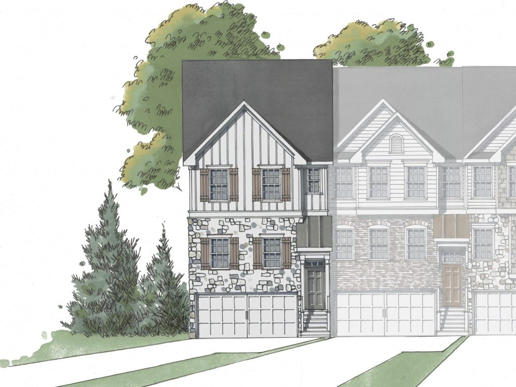 3 bedroom, 3.5 bathroom Birch floor plan at Hawthorne Village.