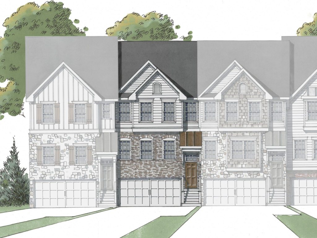 4 Bedroom, 3.5 Bathroom Pine floor plan available at Hawthorne Village.