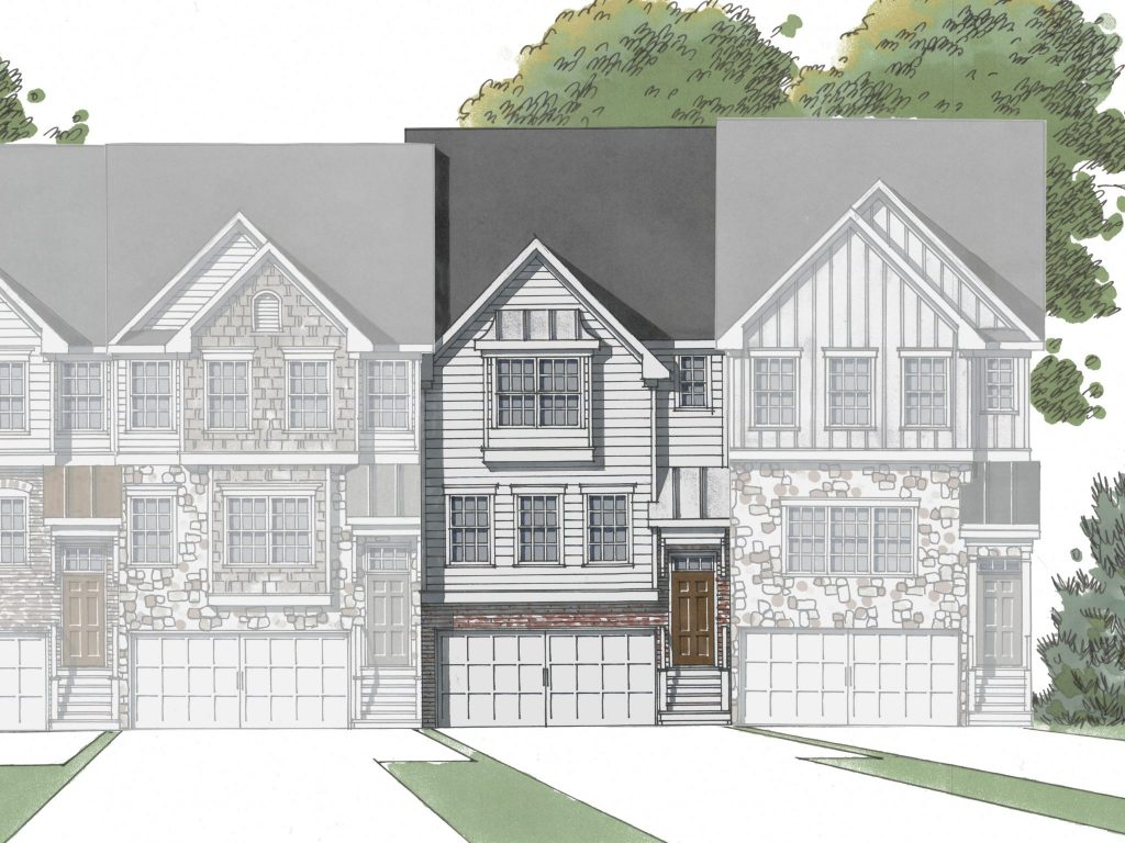 3 bedroom, 3.5 bathroom Redwood floor plan at Hawthorne Village.