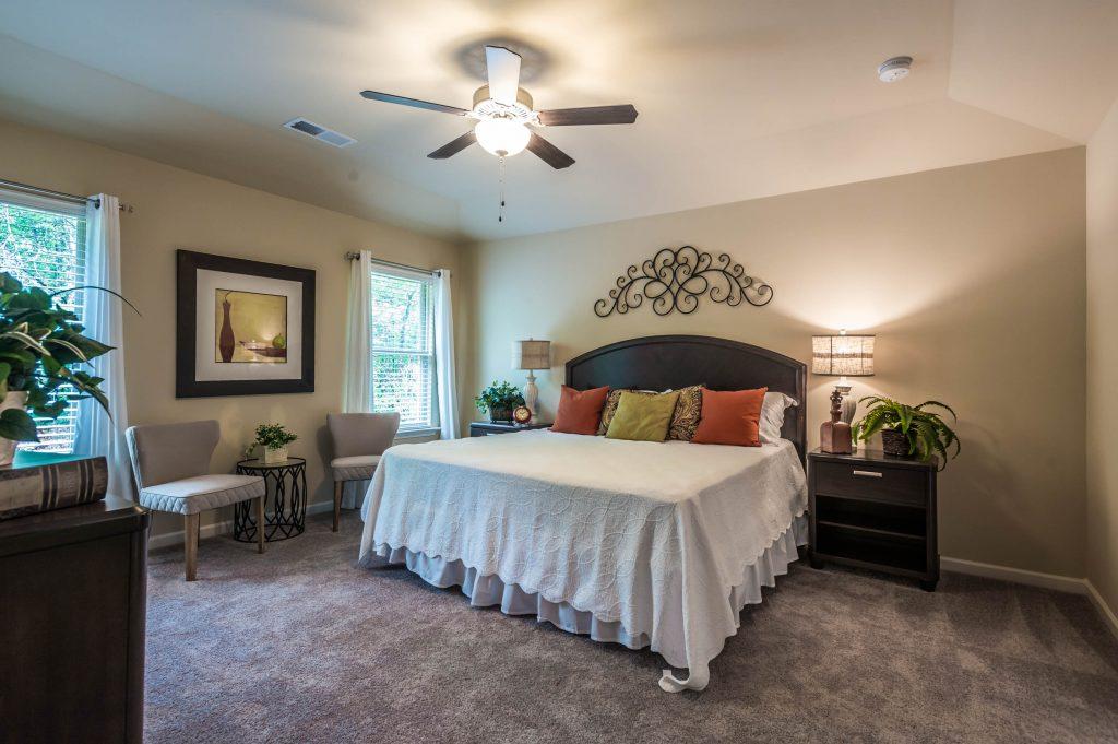 master bedroom in gorham gates model home - hiram ga