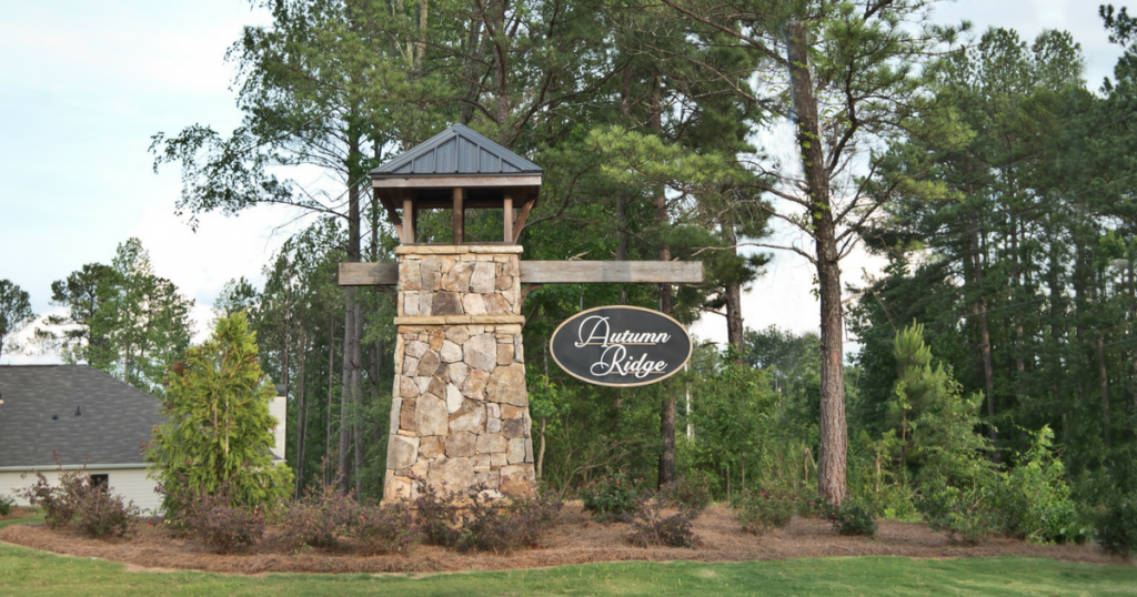 Entrance to the Autumn Ridge community