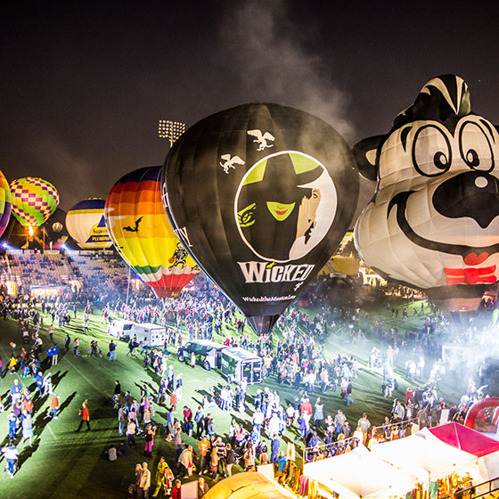 Hot air balloons at Kennesaw's Owl-O-Ween