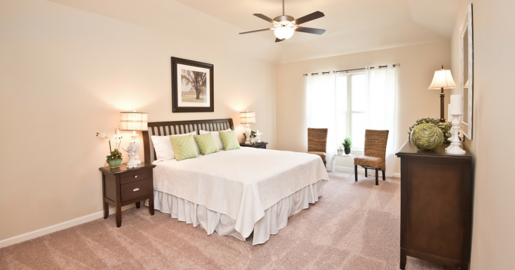 Spacious master bedroom in Autumn Ridge home