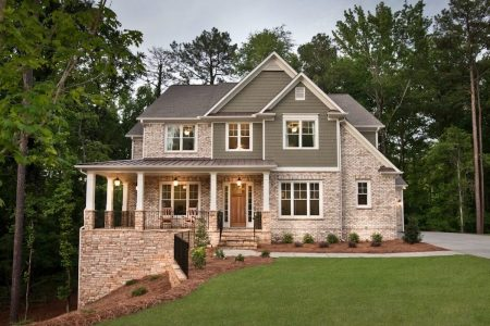 Heritage at Kennesaw Mountain home at dusk