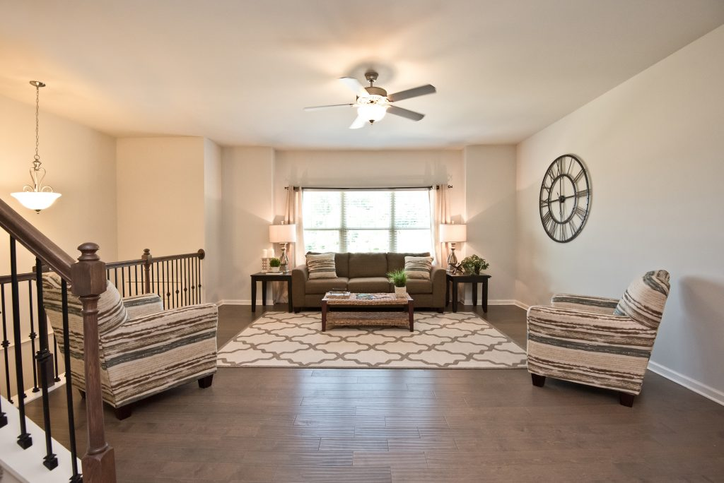 Family room in The Enclave at Powder Springs townhouse