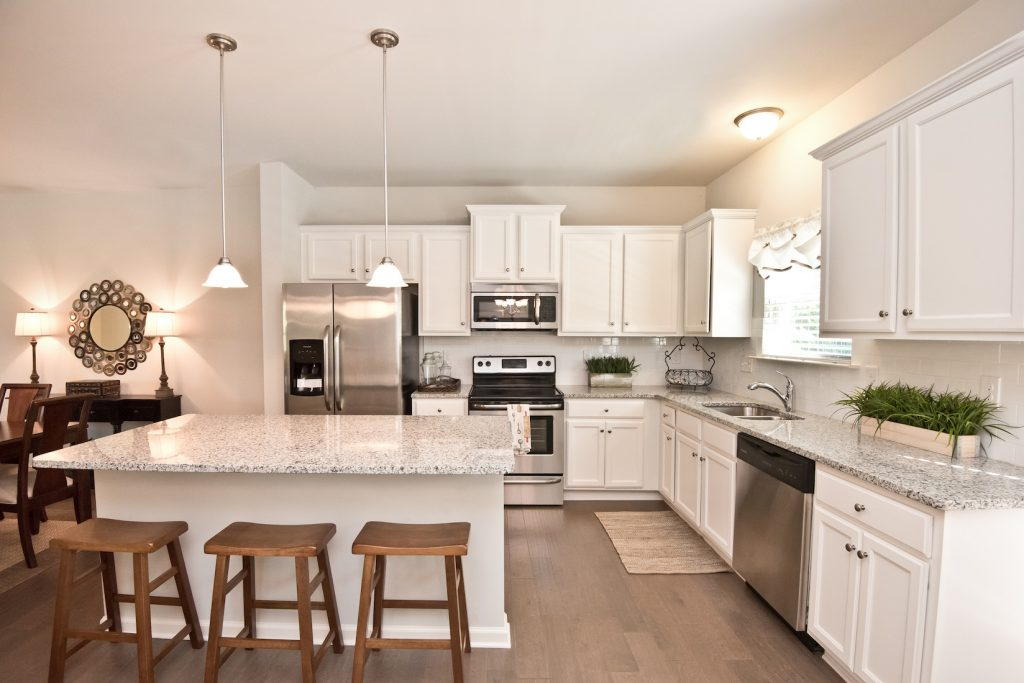 Kitchen in our model townhouse at The Enclave at Powder Springs