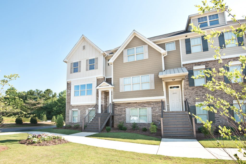 The Encalve at Powder Springs - townhome exteriors