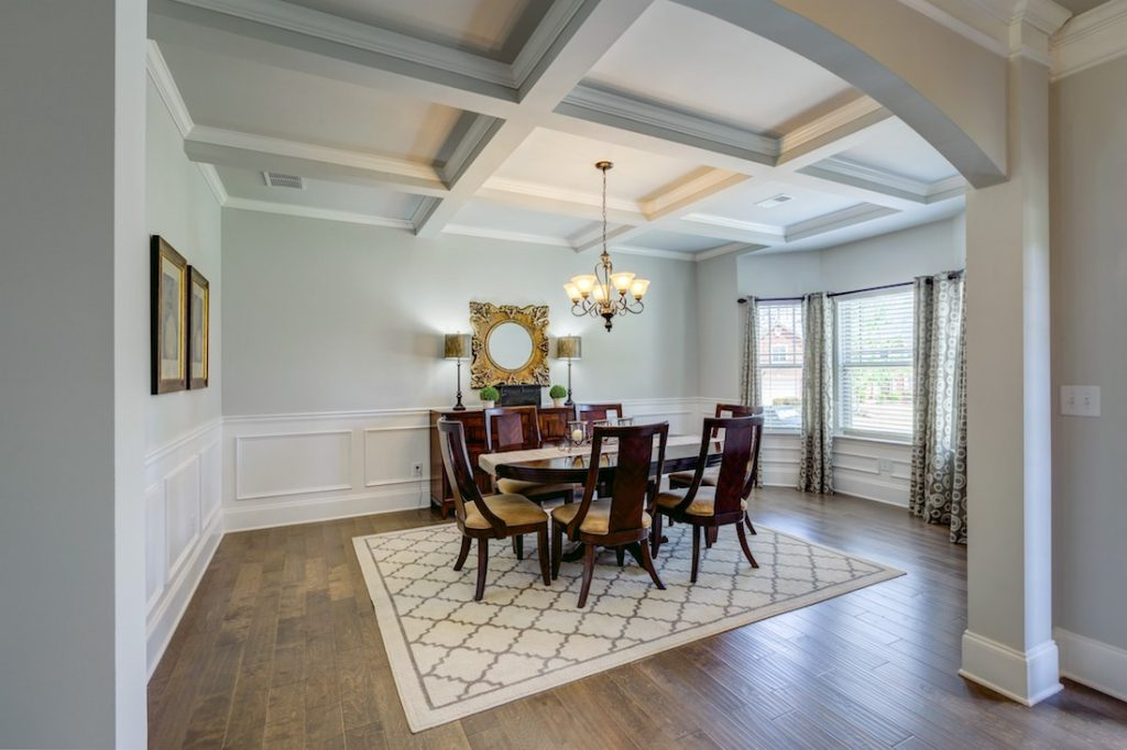 Gorgeous formal dining room in model home at Cowan Ridge