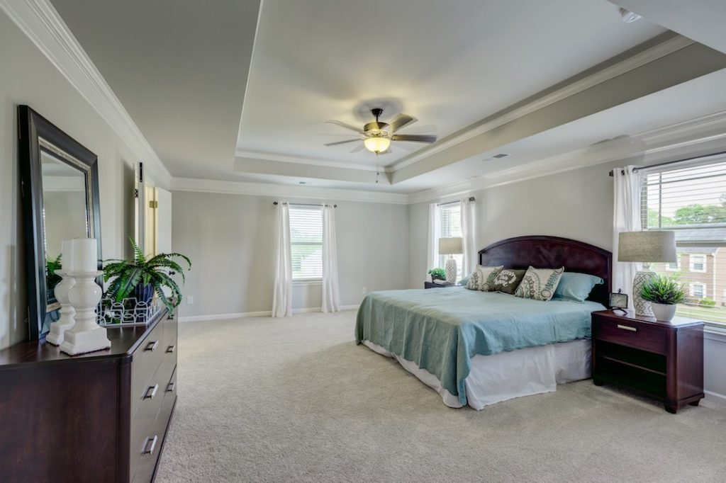 Spacious master suite at our Cowan Ridge model home