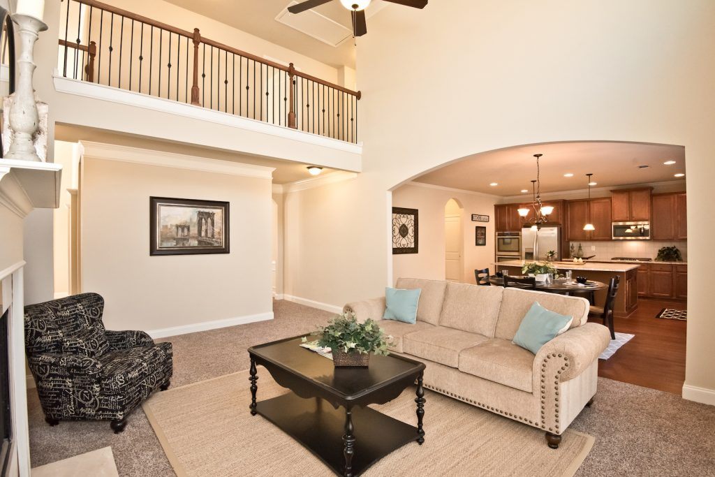Interior of our model home at River Rock