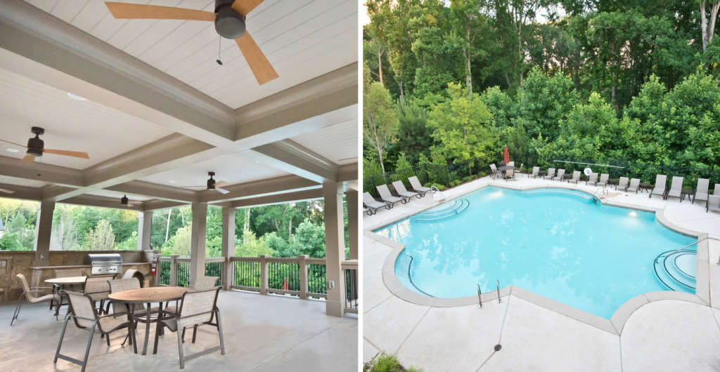 Pool and Cabana at Heritage at Kennesaw Mountain