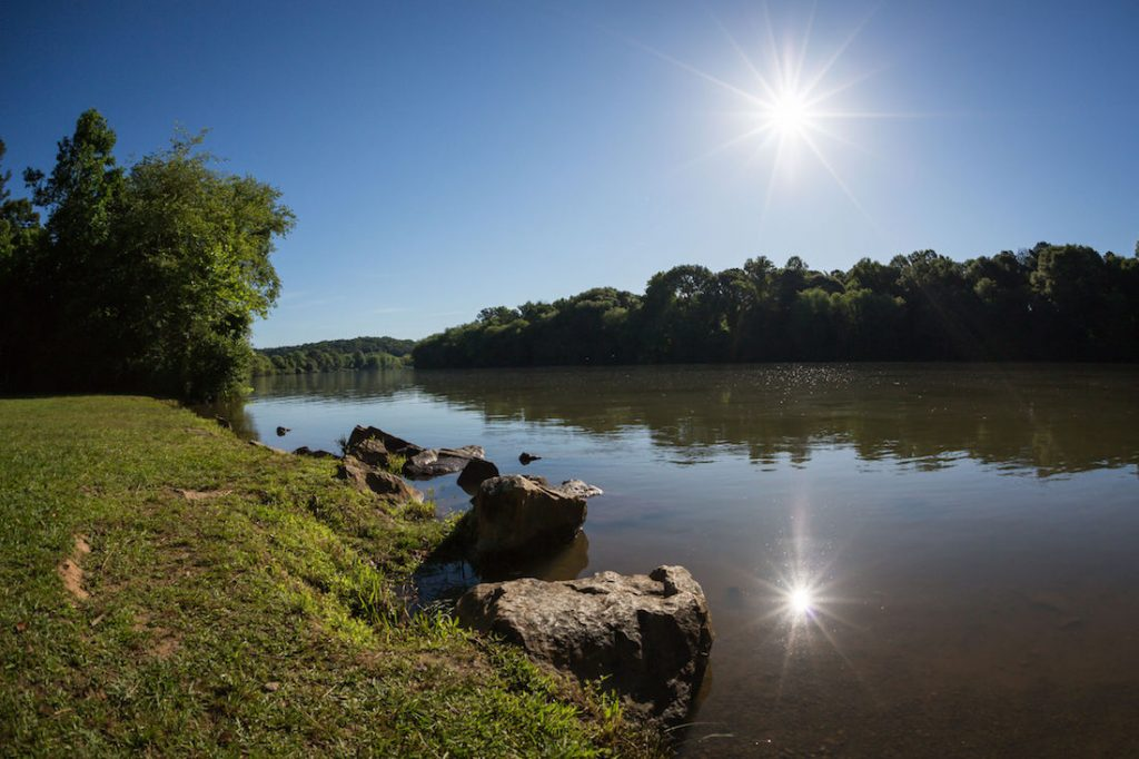 Chattahoochee River near new homes in Douglasville