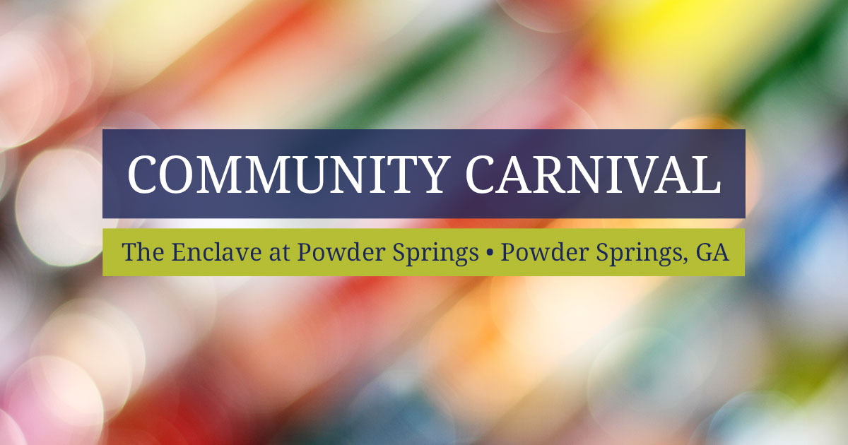 Community Carnival at The Enclave at Powder Springs