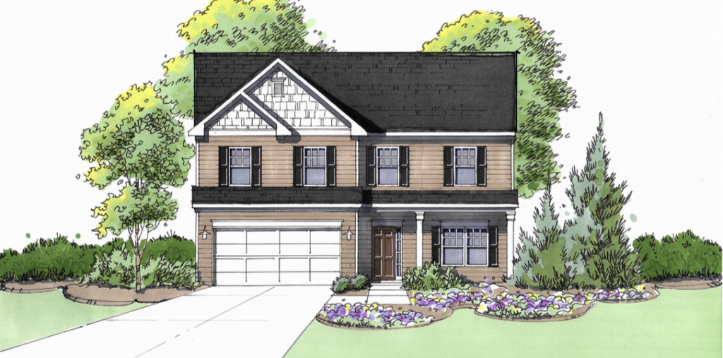 Axley floor plan available at View at Cedar Mountain