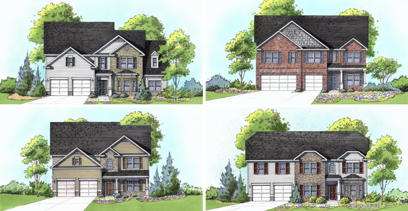 Floor plans available at Perennial Walk in Douglasville