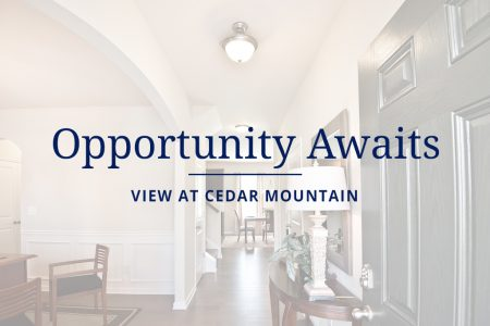 New home opportunities in View at Cedar Mountain
