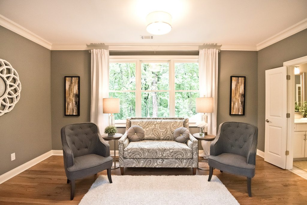 The easiest option is to select a floor plan with a bedroom sitting area included