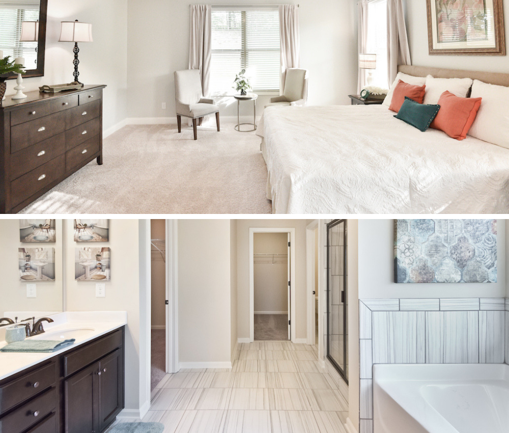 Find the master suite that can serve as your personal retreat.