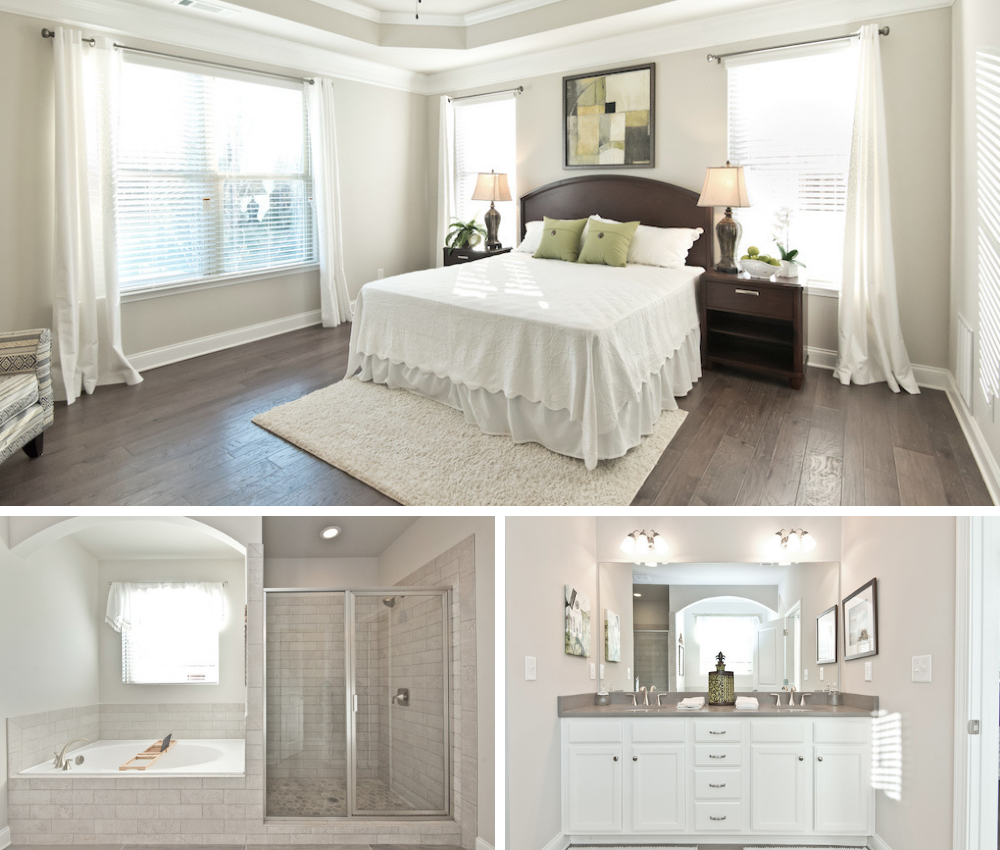Our model home in Overlook at Hamilton Mill has a master suite that provides a refreshing retreat.