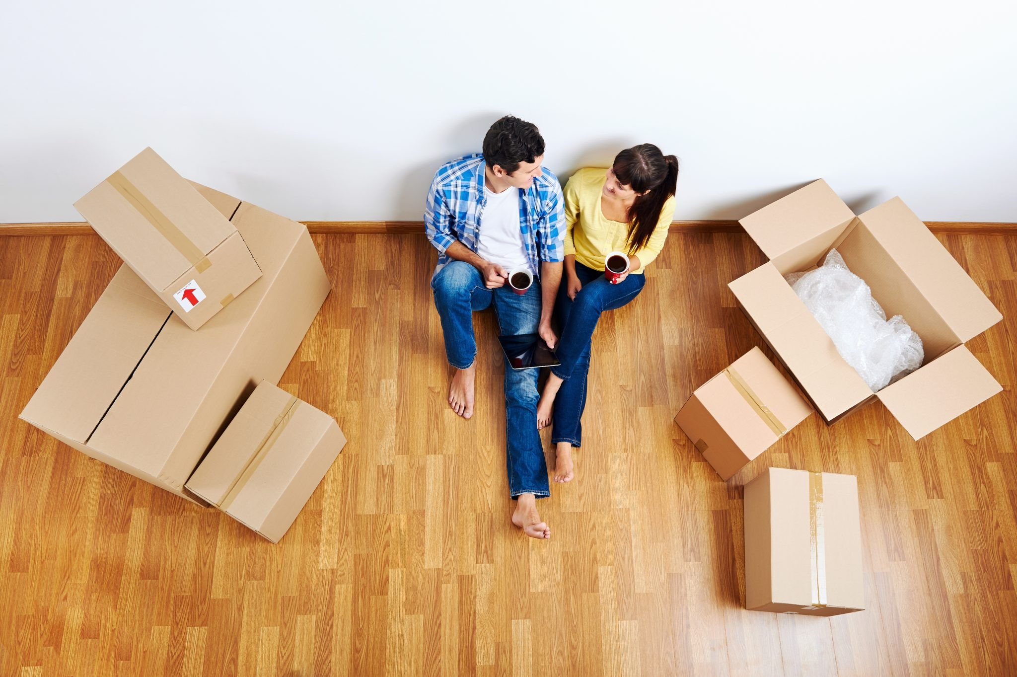 Declutter while you're moving into a new home