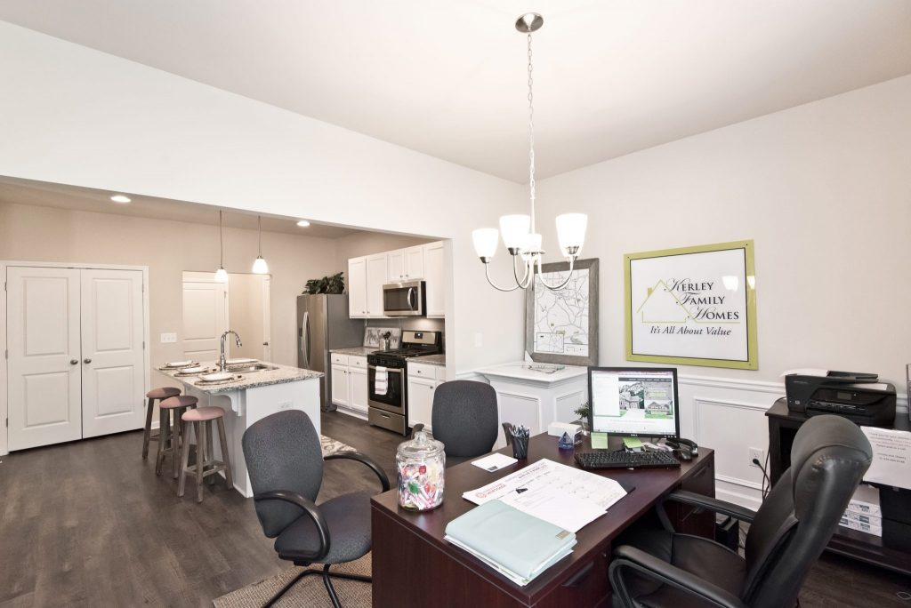 An office in a Kerley Family Homes model home