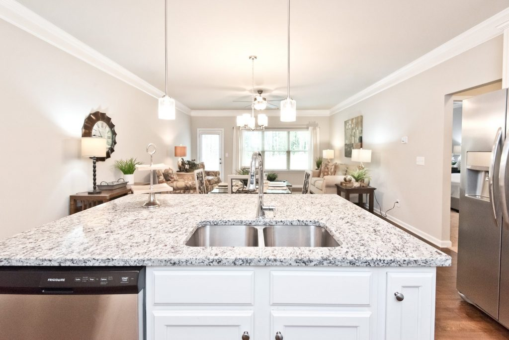 Countertops in a model home