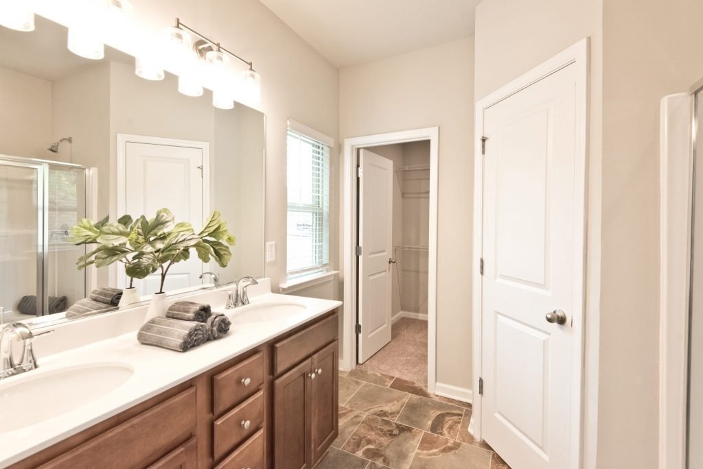 A bathroom in the Hickory plan at Villas at Hickory Grove