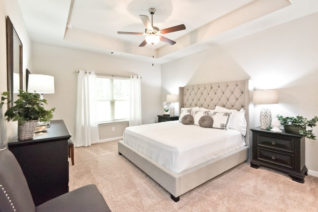 a master bedroom at Villas of Hickory Grove in Acworth