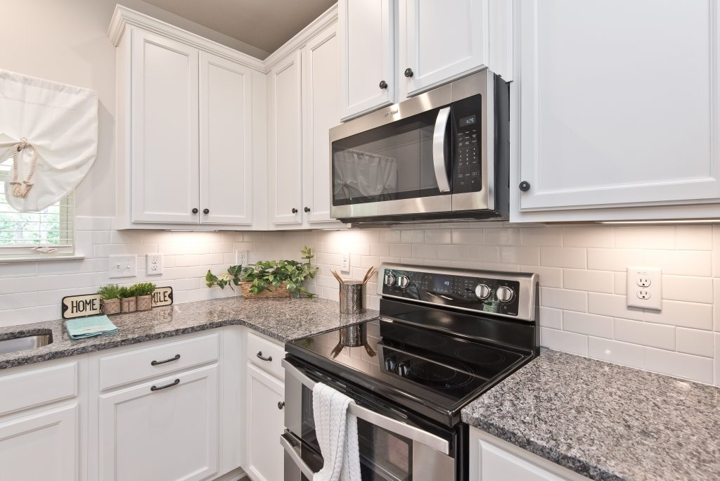 the model kitchen in Cantrell Crossing