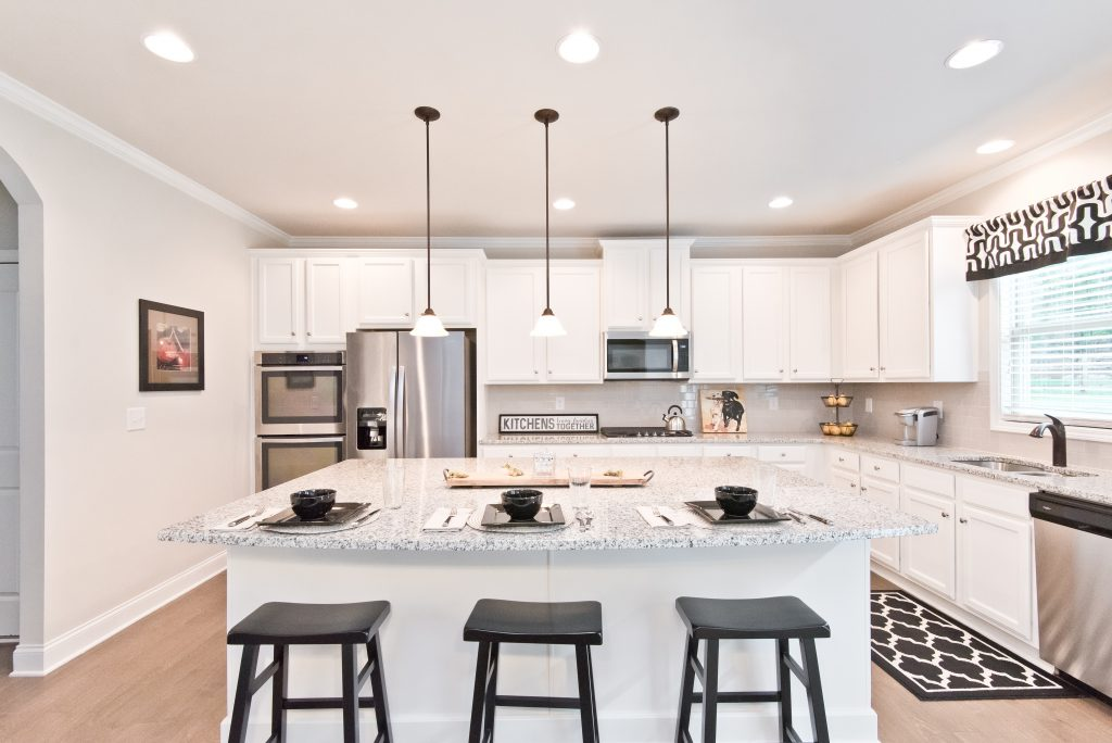 There are many big island styles kitchens in River Rock
