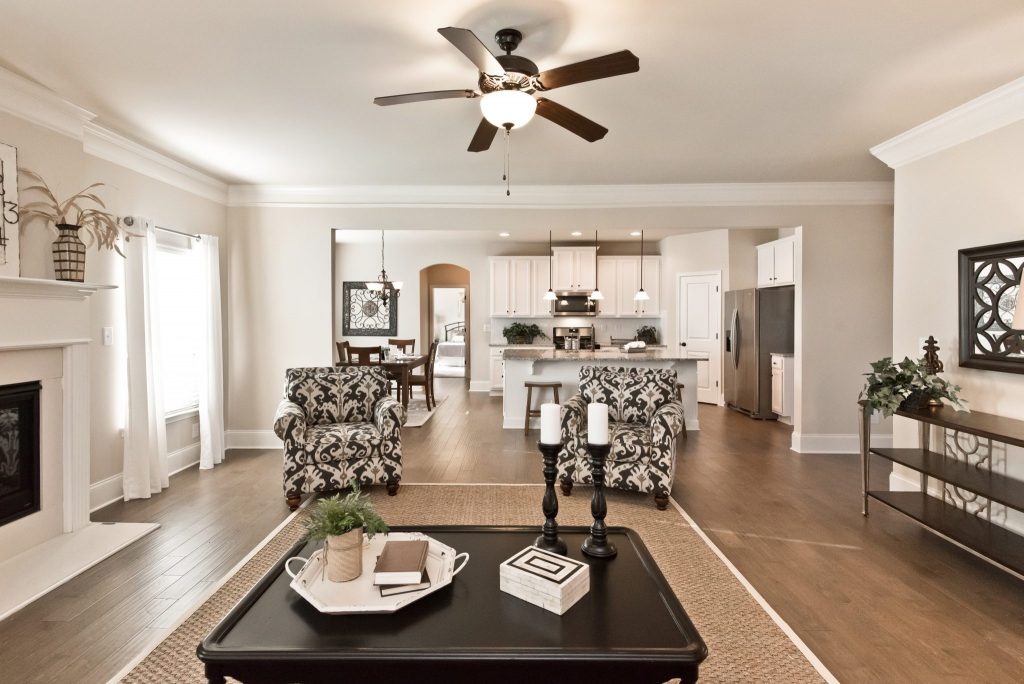 A living room like the ones you'll find in the updated Executive Series homes
