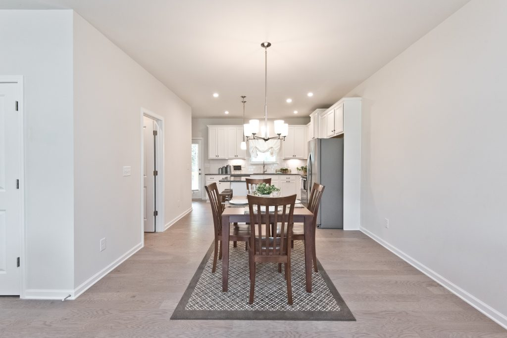 an open-concept dining room in Cantrell Crossing