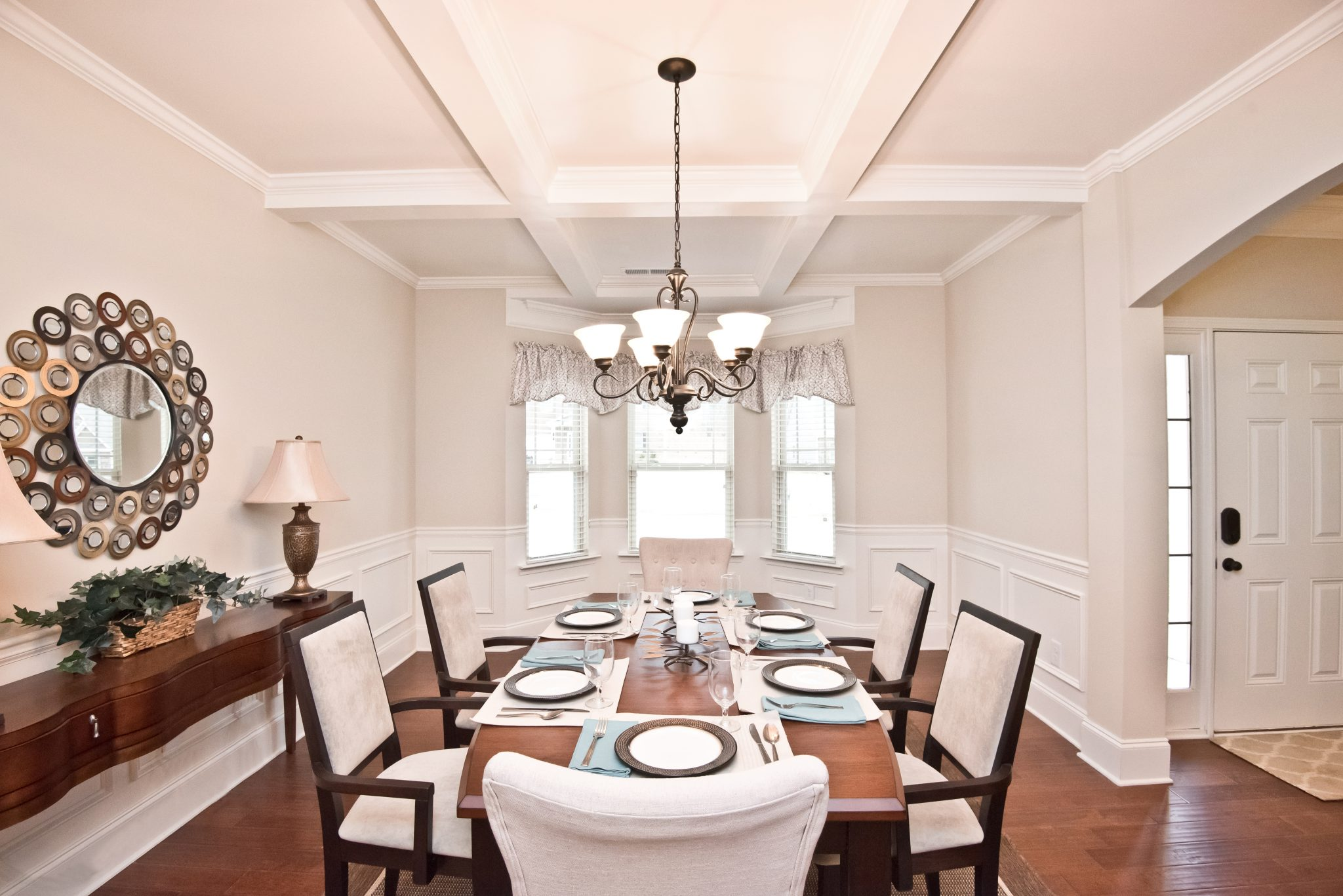 A dining room in a Kerley Family Home