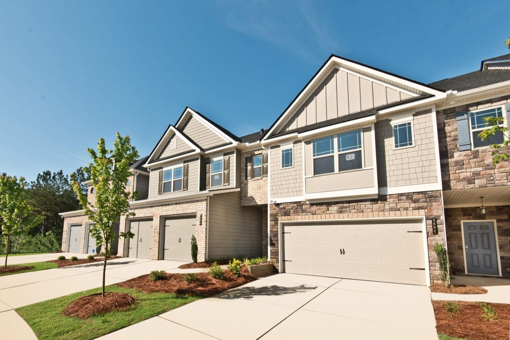 The exterior of a home in Village at West Cobb in Powder Springs
