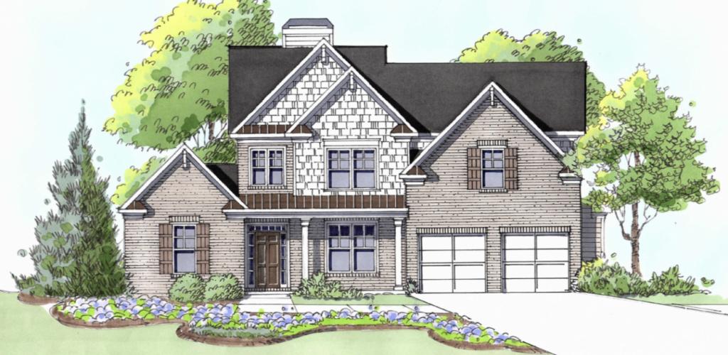 A Lincoln plan home at Gunnerson Pointe