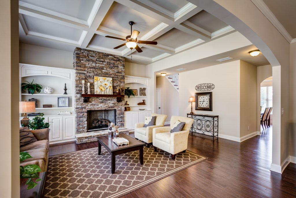 built-in fireplace style in River Springs
