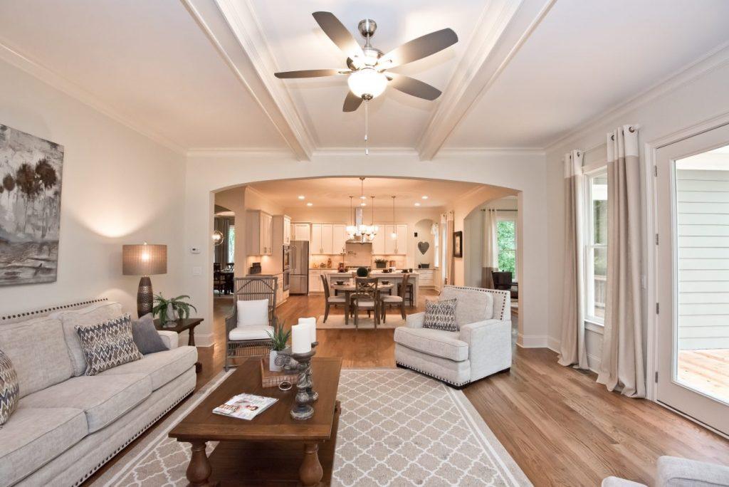 Lighting in a Kerley Family Homes living room