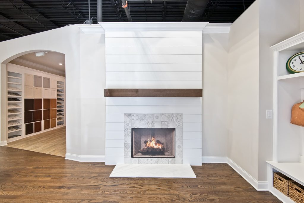 Beautiful fireplace options in the design studio