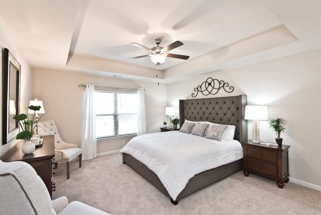A compact master bedroom