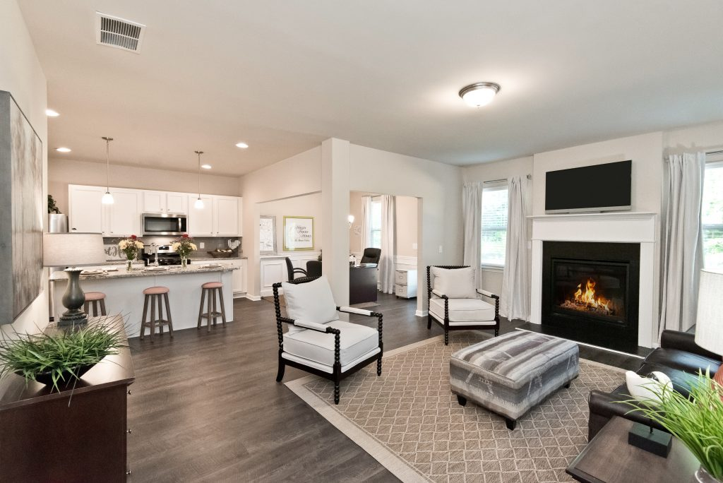 A living room in Village at West Cobb