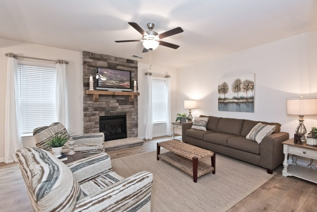 New Chimney Hill Home - Living Room