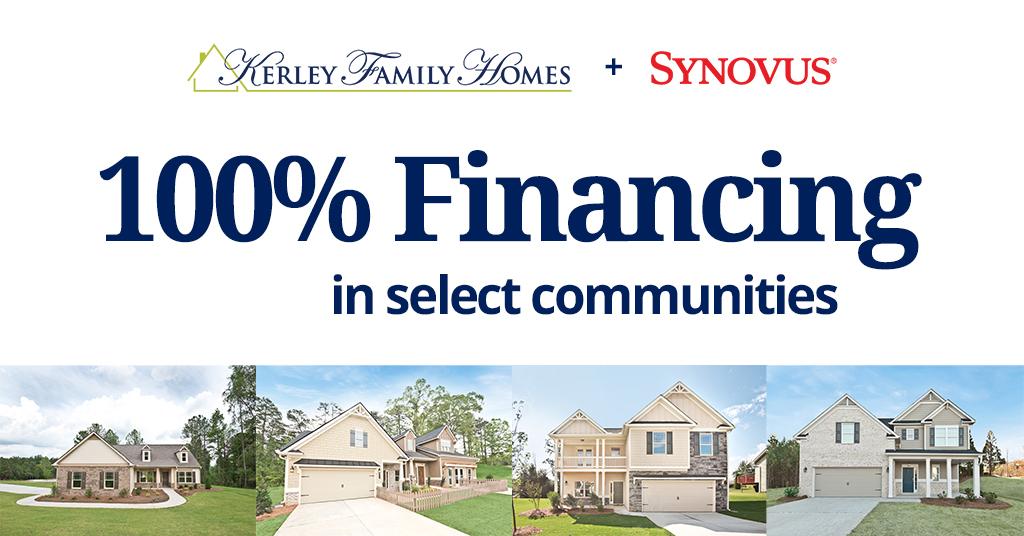 100% financing through Synovus