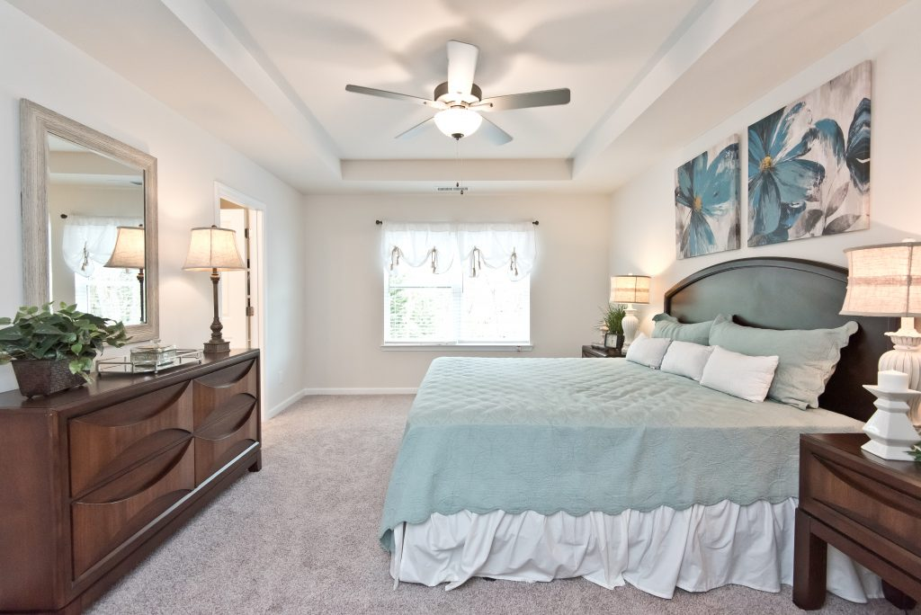 Relaxing master bedroom at Cantrell Crossing