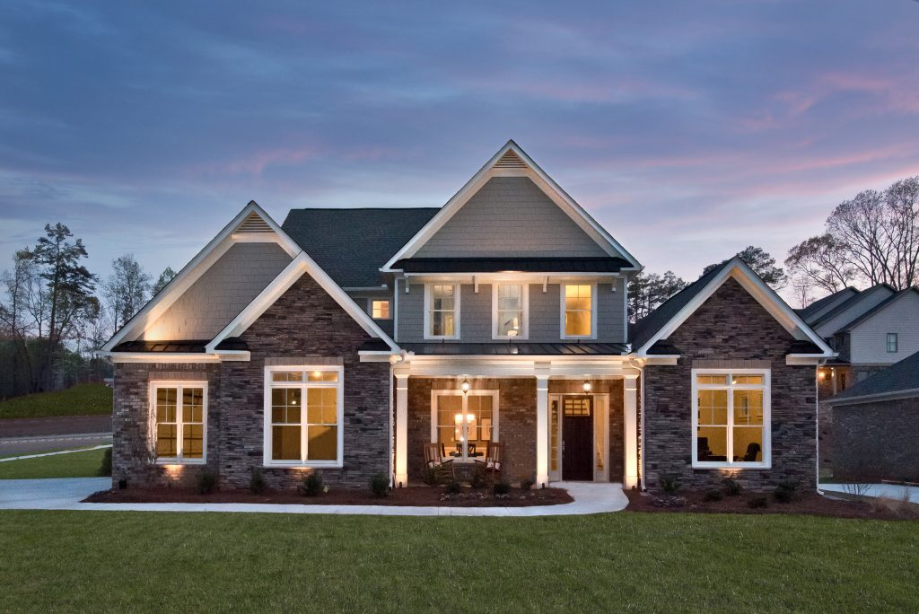 Luxurious Heritage at Kennesaw Mountain Home at Dusk