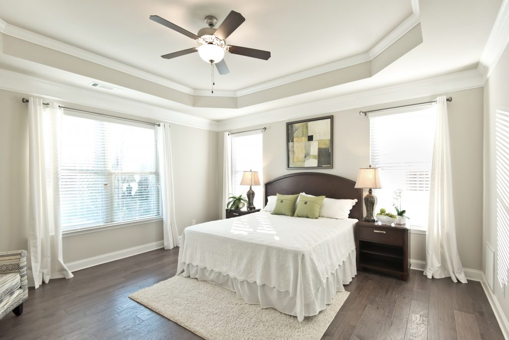 a bedroom in an Overlook at Hamilton Mill home