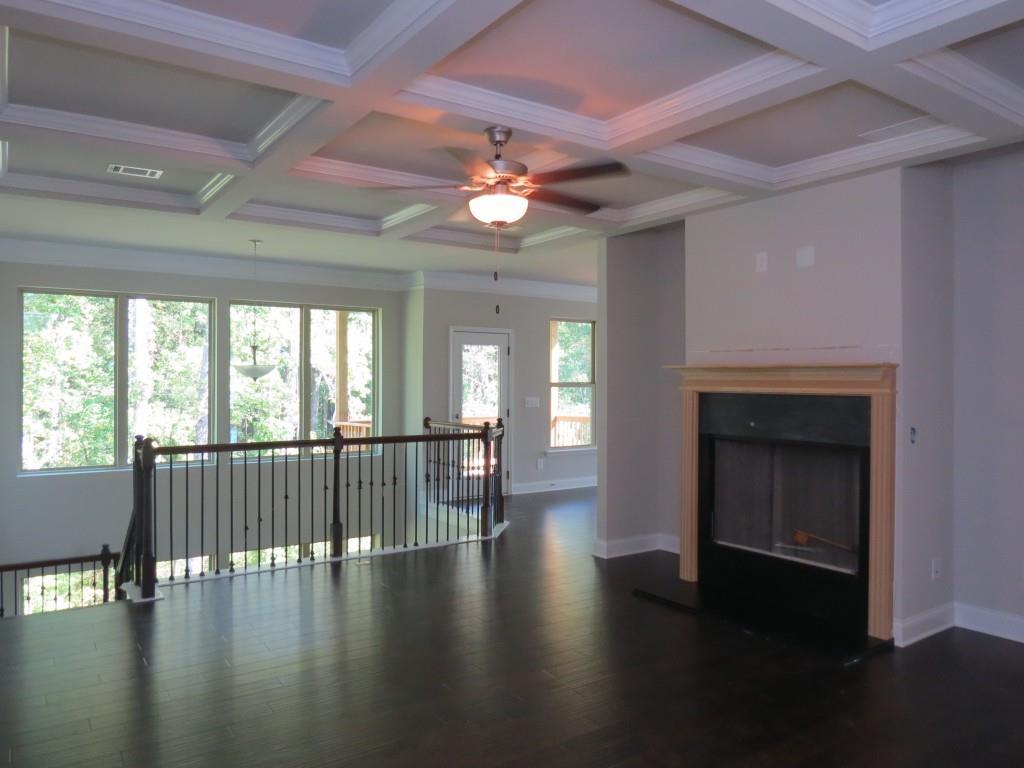 family room in a payton ranch floor plan homes in gwinnett