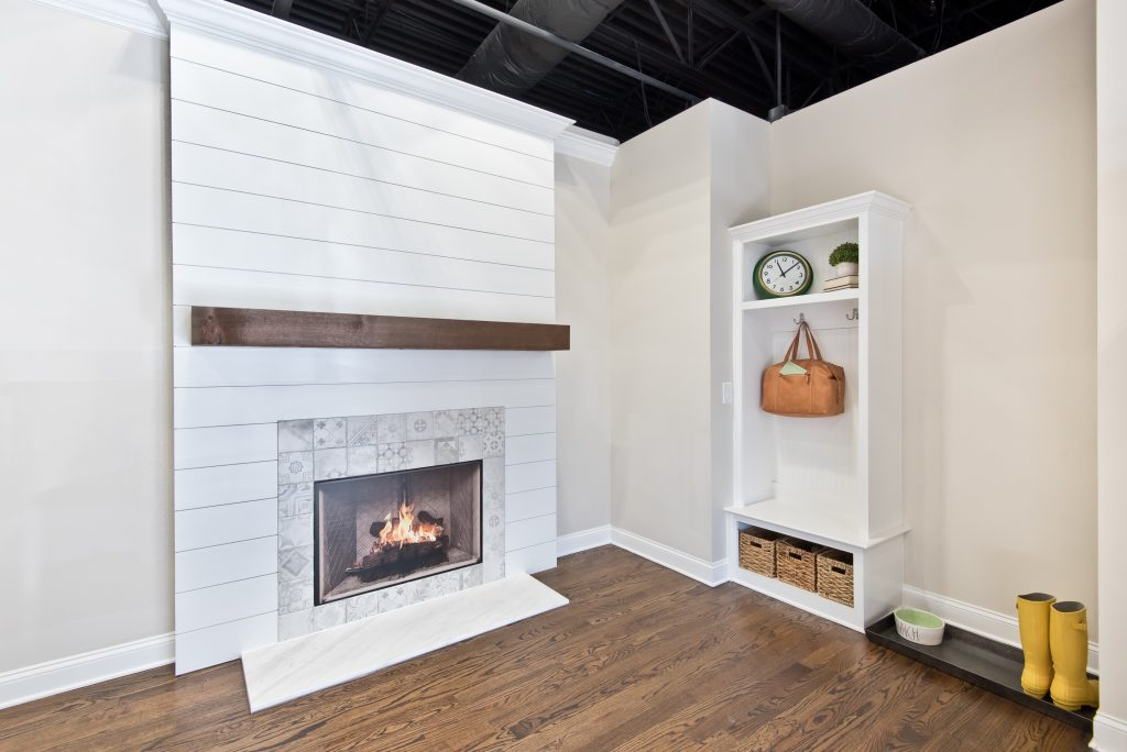 shiplap and built-ins in the design center