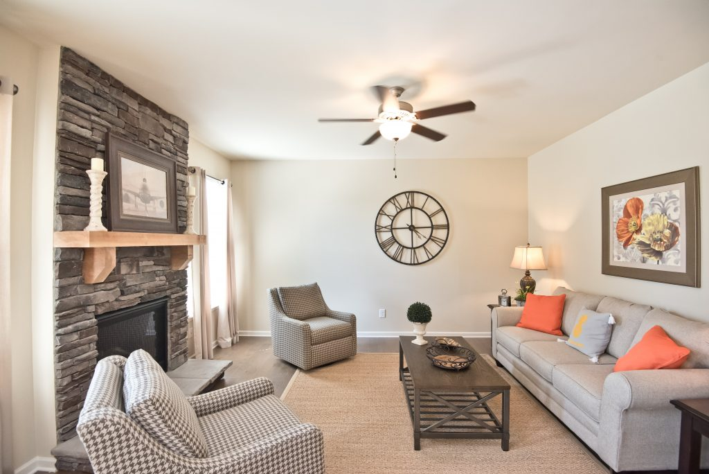 living room in the New Homes in Adairsville at maple village