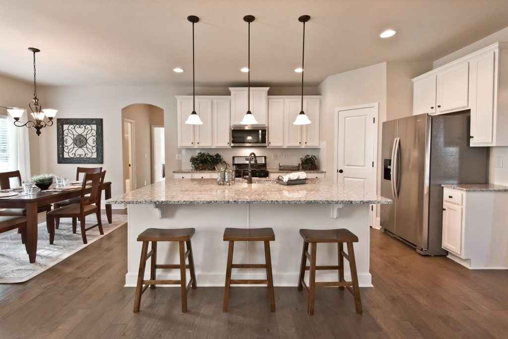 Open Concept Kitchen, Breakfast area, and living room