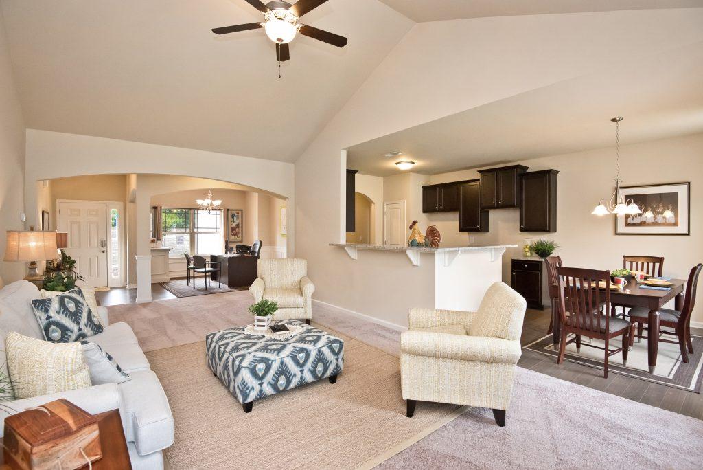 Living room in autumn ridge